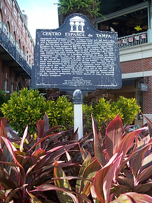 El Centro Español de Tampa - Historical Marker