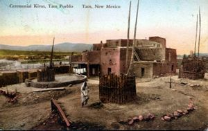 Pueblo - Taos Pueblo, circa 1920