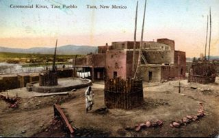 Pueblo modern and old communities of Native Americans in the western United States