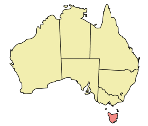 Map of Australia highlighting the location of ...