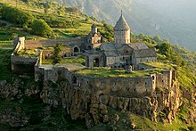 Tatev Monastery from a distance.jpg