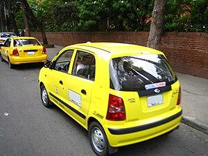 Español: Taxi en Bogota