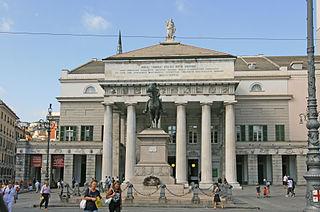 Teatro Carlo Felice opera house in Genoa
