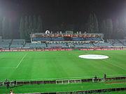 Tehelné pole stadium in Nové Mesto, home to the ŠK Slovan Bratislava football club