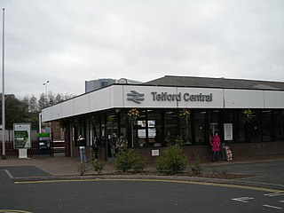 Telford Central railway station Railway station in Shropshire, England