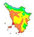 Temperatura media annua Toscana 1961-1990.PNG