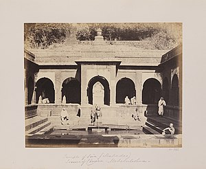 Old Mahabaleshwar - Old panchganga temple in 1850's.