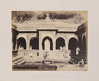 Old Mahabaleshwar - Old panchganga temple in 1850's.