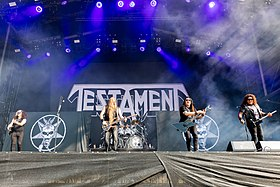Testament performing at Wacken Open Air in 2019