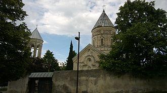 Tetri Giorgi - The Tetri Giorgi Church near Alaverdi Monastery in Akhmeta, Georgia.