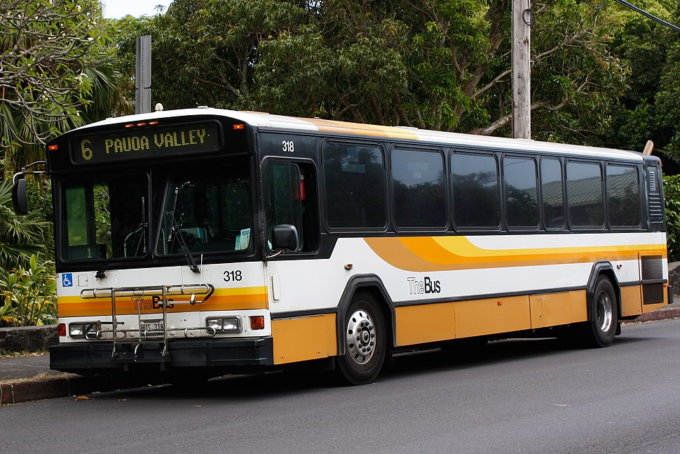 TheBus Gillig Phantom 40' (318) in Manoa 2009-05-22