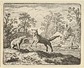 The Badger Imposes as Punishment to Jump Three Times Over a Stick on the Ground from Hendrick van Alcmar's Renard The Fox MET DP837708.jpg