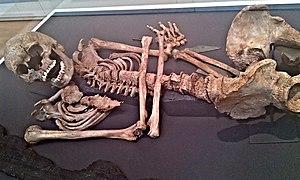 Barnack - The Barnack Burial displayed in the British Museum