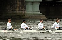 The Cambridge ship's complement during The Boat Race in spring 2013 (1).JPG