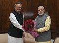 The Chief Minister of Chhattisgarh, Dr. Raman Singh calling on the Prime Minister, Shri Narendra Modi, in New Delhi on February 28, 2015.jpg