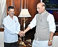 The Chief Minister of Delhi, Shri Arvind Kejriwal calling on the Union Home Minister, Shri Rajnath Singh, in New Delhi on June 15, 2015.jpg