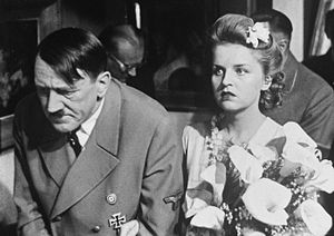 The Fall of Berlin (film) - Vladimir Savelyev and Maria Novakova as Adolf Hitler and Eva Braun