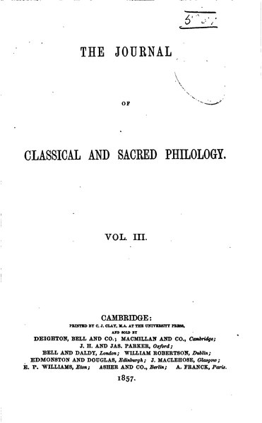 File:The Journal of Classical and Sacred Philology Volume 3.djvu