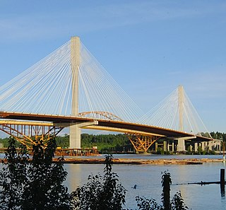 Port Mann Bridge Bridge over the Fraser River in Metro Vancouver, British Columbia; opened in 2012