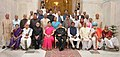 The President, Shri Pranab Mukherjee with the Sanskrit, PaliPrakrit, Arabic and Persian Languages and Maharshi Badarayan Vyas Samman scholars for the year 2015, at a function, at Rashtrapati Bhavan, in New Delhi.jpg