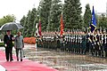 The President, Shri Ram Nath Kovind inspecting the Guard of Honour at the ceremonial welcome, at Palace of Nation, in Dushanbe, Tajikistan on October 08, 2018. The President of Tajikistan, Mr. Emomali Rahmon is also seen.JPG