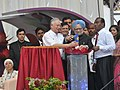The Prime Minister, Dr. Manmohan Singh and the Prime Minister of Malaysia, Dato' Sri Mohd Najib Bin Tun Abdul Razak jointly launching the Little India, Brickfields, in Malaysia on October 27, 2010.jpg