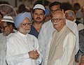 The Prime Minister, Dr. Manmohan Singh with the Chairman of BJP Parliamentary Party, Shri L.K. Advani, at an Iftar party, hosted by him, in New Delhi on August 16, 2012.jpg