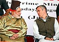 The Prime Minister, Shri Narendra Modi with the Chief Minister of Jammu and Kashmir, Shri Omar Abdullah, during the inaugural function of 45MW capacity Nimmo-Bazgo hydropower project, in Leh on August 12, 2014.jpg