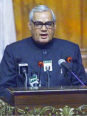 The Prime Minister Shri Atal Bihari Vajpayee delivering his speech at the 12th SAARC Summit in Islamabad, Pakistan on January 4, 2004 (1) (cropped).jpg