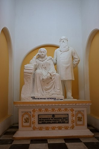 Theosophy (Blavatskian) - Statue of Blavatsky and Olcott at Adyar