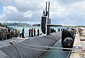 The attack submarine USS Chicago (SSN 721) returns to Apra Harbor, Guam, April 25, 2013, after completing its first mission as part of Commander, Submarine Squadron 15 130425-N-LS794-249.jpg