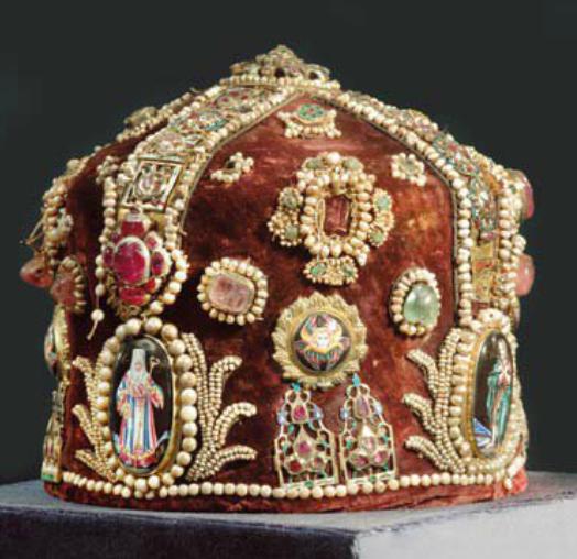 The crown of king Stefan Uroš III Dečanski Nemanjić 14c