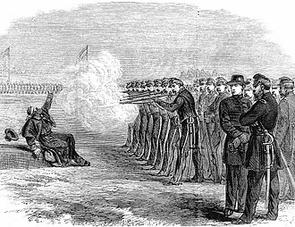 Desertion - The execution of a U.S. deserter in the Federal Camp, Alexandria