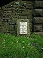 The south Cheddleton milestone - detail - geograph.org.uk - 1491016.jpg