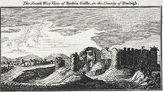The south west view of Ruthin castle: in the county of Denbigh