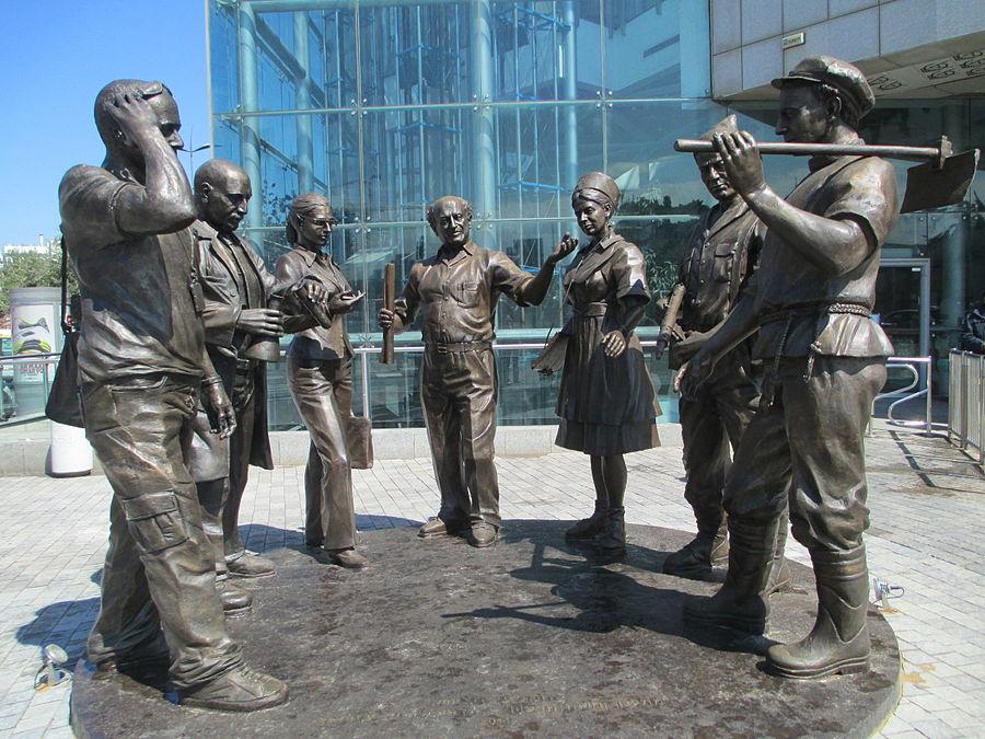 The zionst voyage of David Azriely sculpture in Tel Aviv (2014).JPG