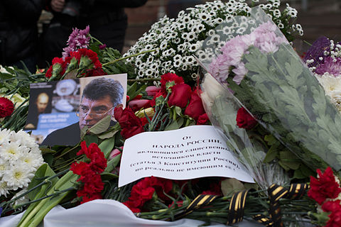 There are flowers at the site of the murder of Boris Nemtsov.jpg