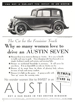 Austin 7 - 1937 advertisement