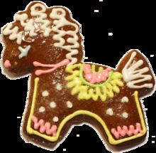 Biscotto decorato con glasse di vari colori