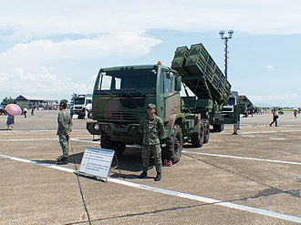 Tien Kung II Missile Launcher with Truck Display at Gangshan Air Force Base Apron Tien Kung II Missile Launcher with Truck Display at Gangshan Air Force Base Apron 20170812b.jpg