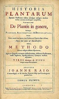 Historia Plantarum cover