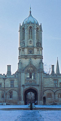Sir Christopher Wren's Tom Tower, at Christ Church, Oxford