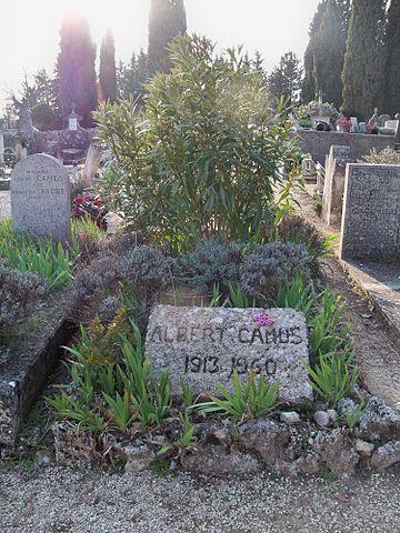 Могила Камю на кладбище Лурмарена.