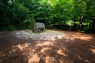 Brocéliande - Merlin's tomb (tombeau de Merlin) megalith within Paimpont forest