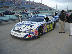 Tony Raines - Raines' car before the 2007 Ford 300 at Homestead-Miami