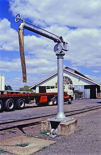 Toowoomba railway station - Water crane, 1993