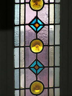 Cathedral glass - Image: Torun witraz piast 5 01