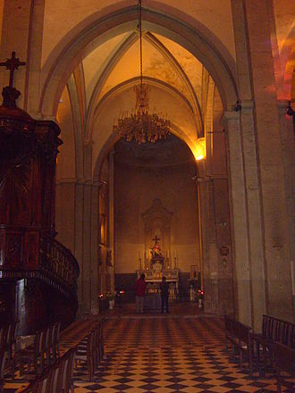 Toulon Cathedral - St. Joseph Chapel was originally the choir apse of the 11th century Cathedral