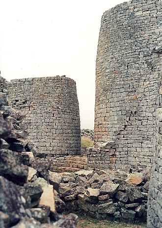 History of Zimbabwe - Towers of Great Zimbabwe.