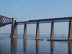 Train crossing Forth Rail Bridge.jpg